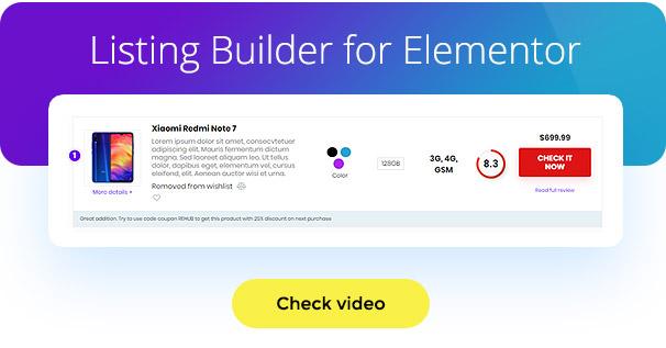 listing builder wordpress