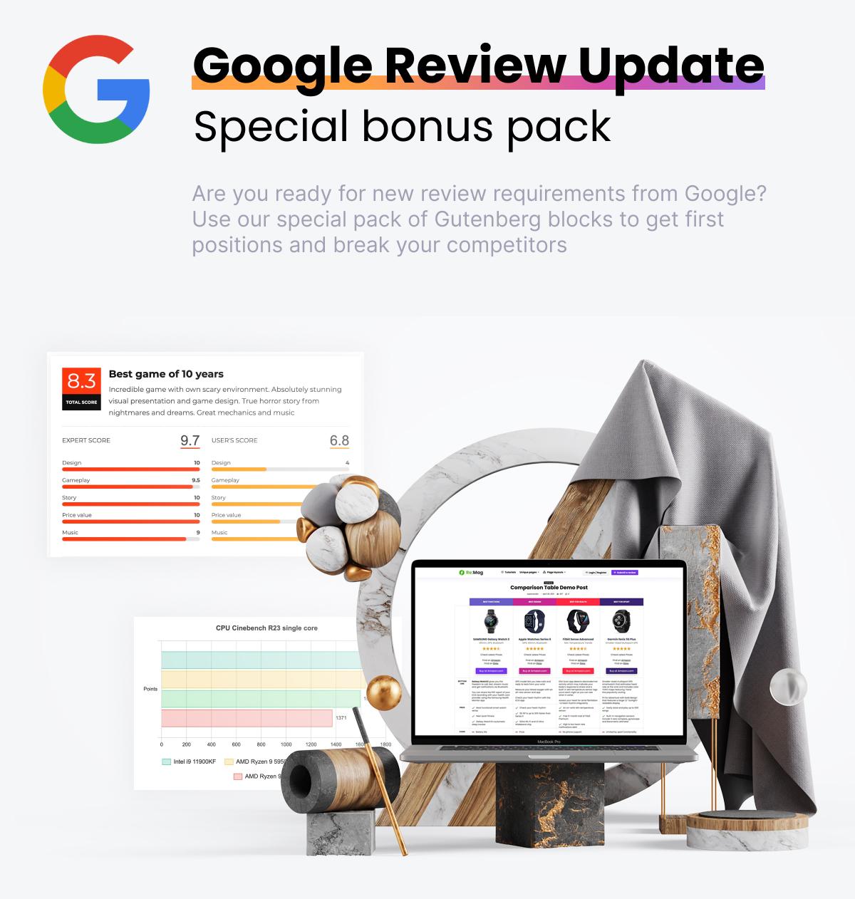 Google review update blocks